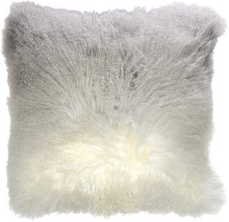 Aviva Stanoff Design Ombre-Dyed Mongolian Fur Accent Pillow