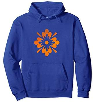 Contemporary Floral Orange Abstract Art Novelty Hoodie