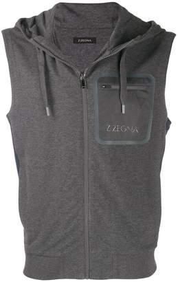 sleeveless sweatshirt jacket