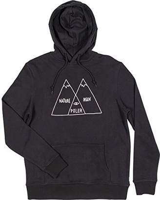 Poler Men's Logo Branded Hooded Sweatshirt