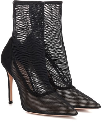b67c151bab Gianvito Rossi Erin mesh ankle boots
