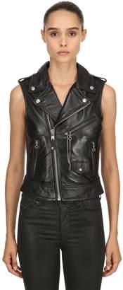 Schott Perfecto Biker Leather Vest Jacket