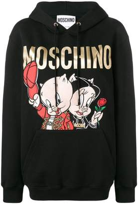 Moschino Porky & Petunia Pig hoodie