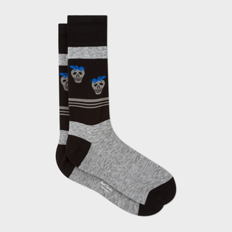 Men's Black Striped Strawberry Skull Socks $30 thestylecure.com