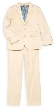 Little Boy's & Boy's Solid Suit $150 thestylecure.com