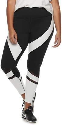 So Juniors' Plus Size SO Colorblock High-Waisted Yoga Leggings
