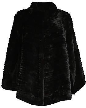 Adrienne Landau Women's Rex Rabbit Fur Knit Cape