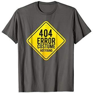 404 Error Costume Not Found Shirt Multipurpose Costumes Tee