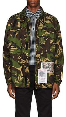 Martine Rose Men's Flyer-Appliquéd Camouflage Cotton-Blend Jacket - Green
