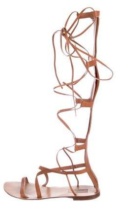Valentino Leather Gladiator Sandals