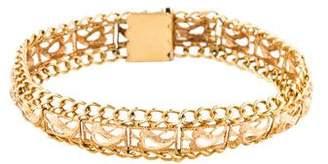 14K Filigree Paisley Link Bracelet