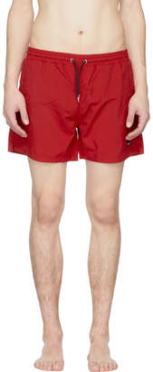 McQ Red Swallow Swim Shorts