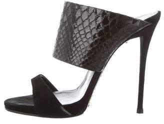 Giuseppe Zanotti Embossed Slide Sandals