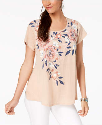 Style&Co. Style & Co Floral-Print Swing Top, Created for Macy's