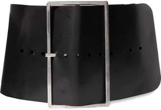 Ann Demeulemeester Oversized Leather Belt - Black