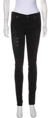 Elizabeth and James Distressed Mid-Rise Skinny Jeans