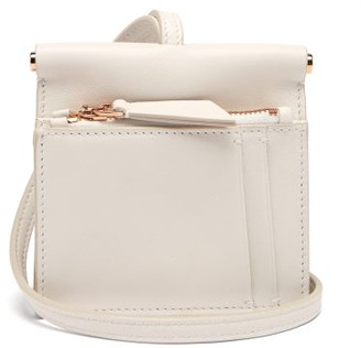Gabriela Hearst Maria Mini Leather Necklace Bag - Womens - White
