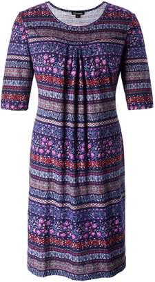 b5de99b878f9f Chicwe Women s Plus Size Vintage Floral Designed Shift Dress with Pleats 1X