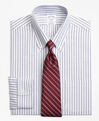 Brooks Brothers BrooksCool Regent Fitted Dress Shirt, Non-Iron Ground Split Stripe