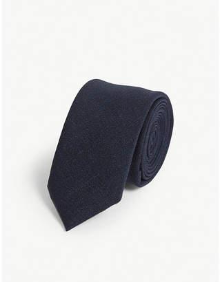 Eleventy Plain wool tie