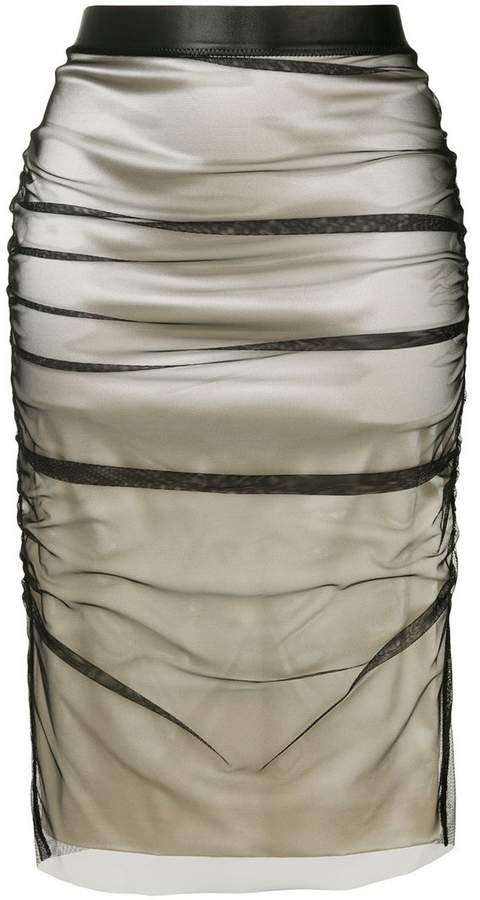 Tom Ford layered pencil skirt
