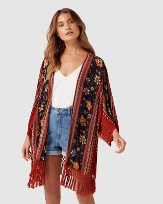 Band of Gypsies Gypsy Fringe Kimono