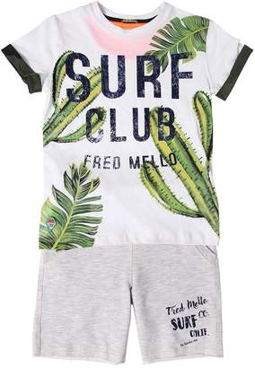 Fred Mello Cotton Jersey T-Shirt & Sweat Shorts