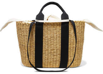 Muun Caba Straw And Cotton-canvas Tote - Beige