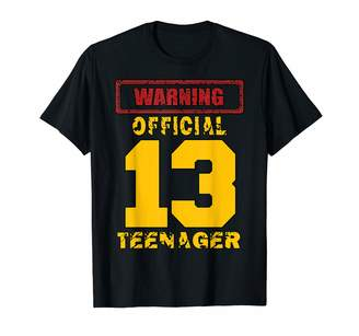 Teen Bday Tshirts Gifts Warning official teenager teen 13th Birthday 13 Yr old Gifts T-Shirt