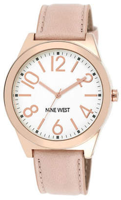 Nine West 1660SVPK Rose-Goldtone Stainless Steel Watch