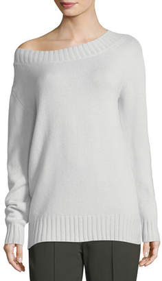 Vince Boat-Neck Long-Sleeve Wool-Cashmere Sweater