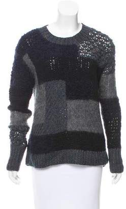 Rebecca Taylor Patchwork Knit Sweater