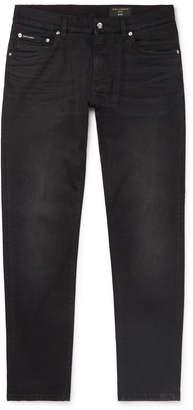 Dolce & Gabbana Slim-Fit Washed-Denim Jeans - Men - Black