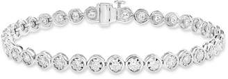 Effy Diamond Bezel Tennis Bracelet (1-9/10 ct. t.w.) in 14k White Gold