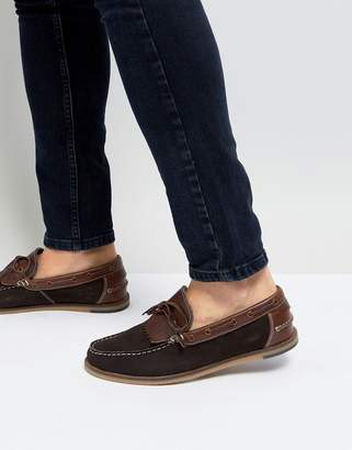 Silver Street Boat Shoes Brown Suede