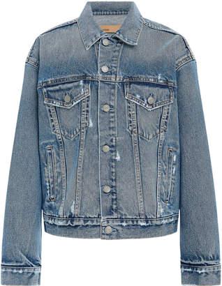 GRLFRND Denim Kim Distressed Denim Jacket