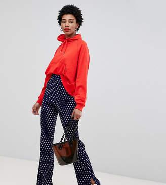 Glamorous Tall plisse pants with split in mini spot