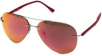 Ray-Ban Men's Titanium Man Aviator Sunglasses