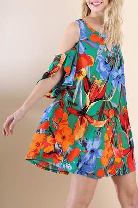 Umgee USA Jade Floral-Print Dress