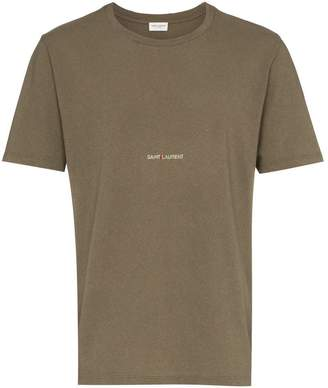 Saint Laurent short sleeve 'Army' logo print t-shirt
