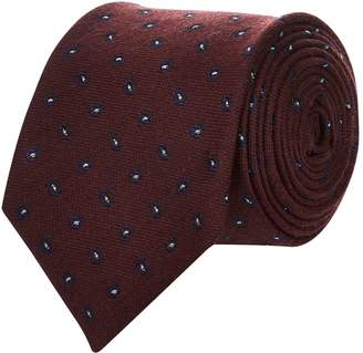 Corneliani Paisley Wool-Silk Tie