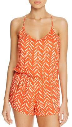 Dolce Vita Beaded Back Romper Swim Cover-Up