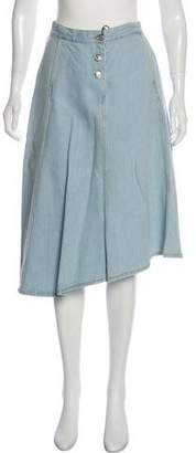 Acne Studios Knee-Length Denim Skirt