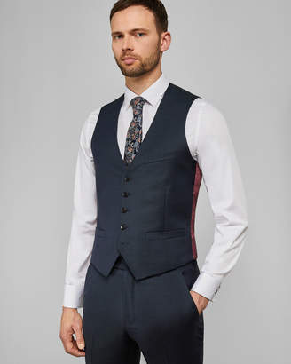BUTTERW Debonair subtle check wool waistcoat