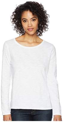 Dylan by True Grit Soft Slub Long Sleeve Tee with Tiered Back Women's Long Sleeve Pullover