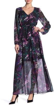 Nine West DRESS Printed Maxi Dress