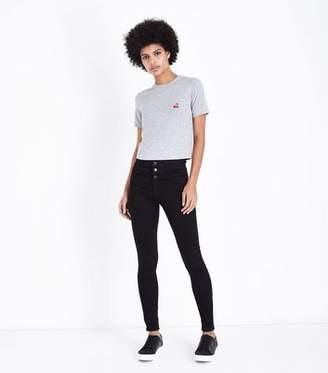 9ef3c0144fab0 New Look Tall Black 3 Button High Waist Skinny Jeans
