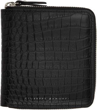 Giuseppe Zanotti Black Croc Darwin Wallet