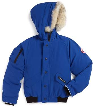 Canada Goose 'Rundle' Down Bomber Jacket with Genuine Coyote Fur Trim
