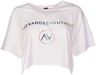 Alexandre Vauthier Alexander Vauthier Logo Printed Cropped T-shirt